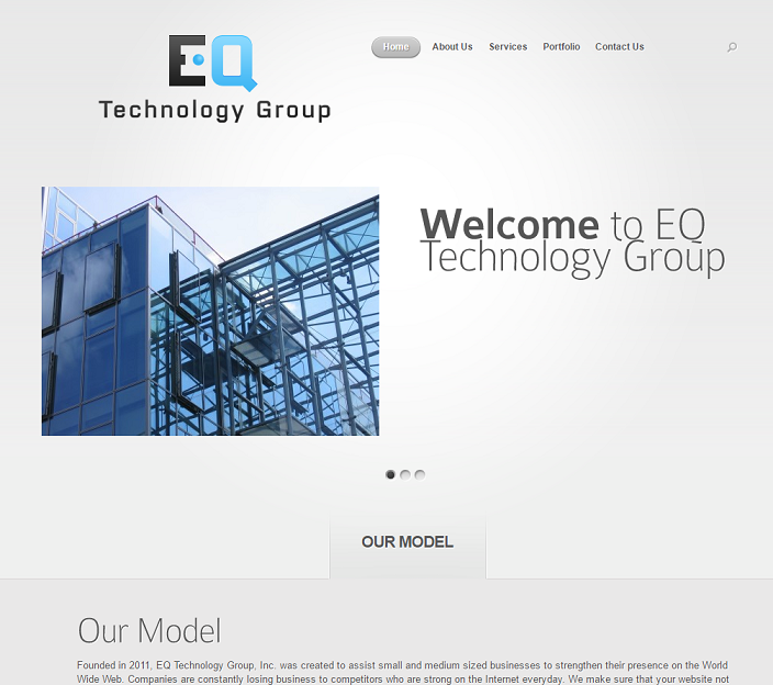 EQ Technology Group website version 1