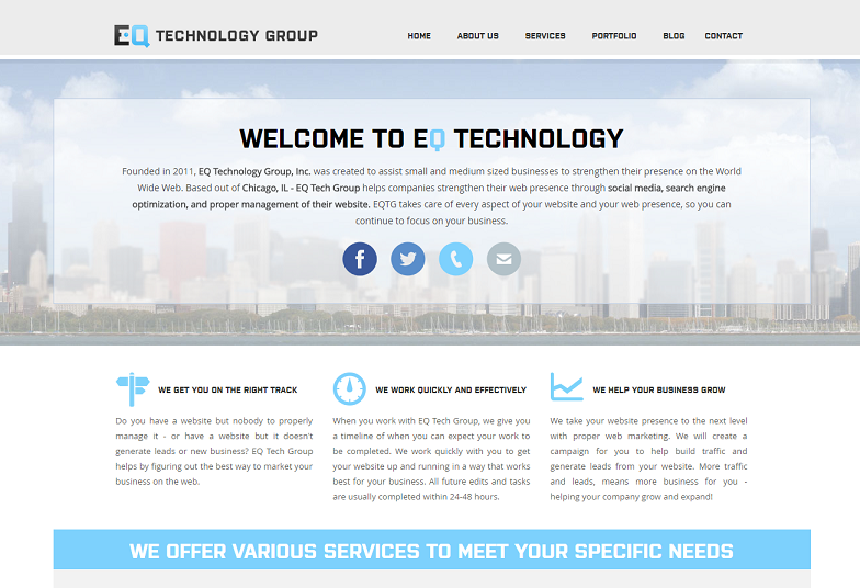 EQ Technology Group website version 2