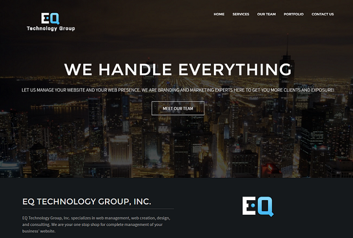 EQ Technology Group website version 3