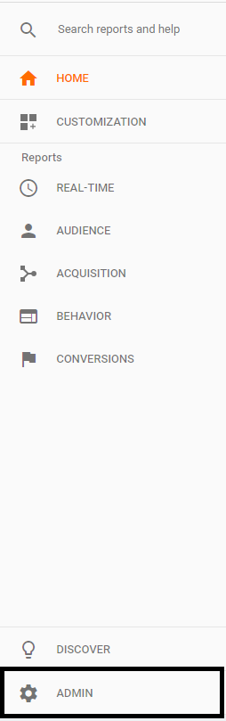 Google Analytics admin controls