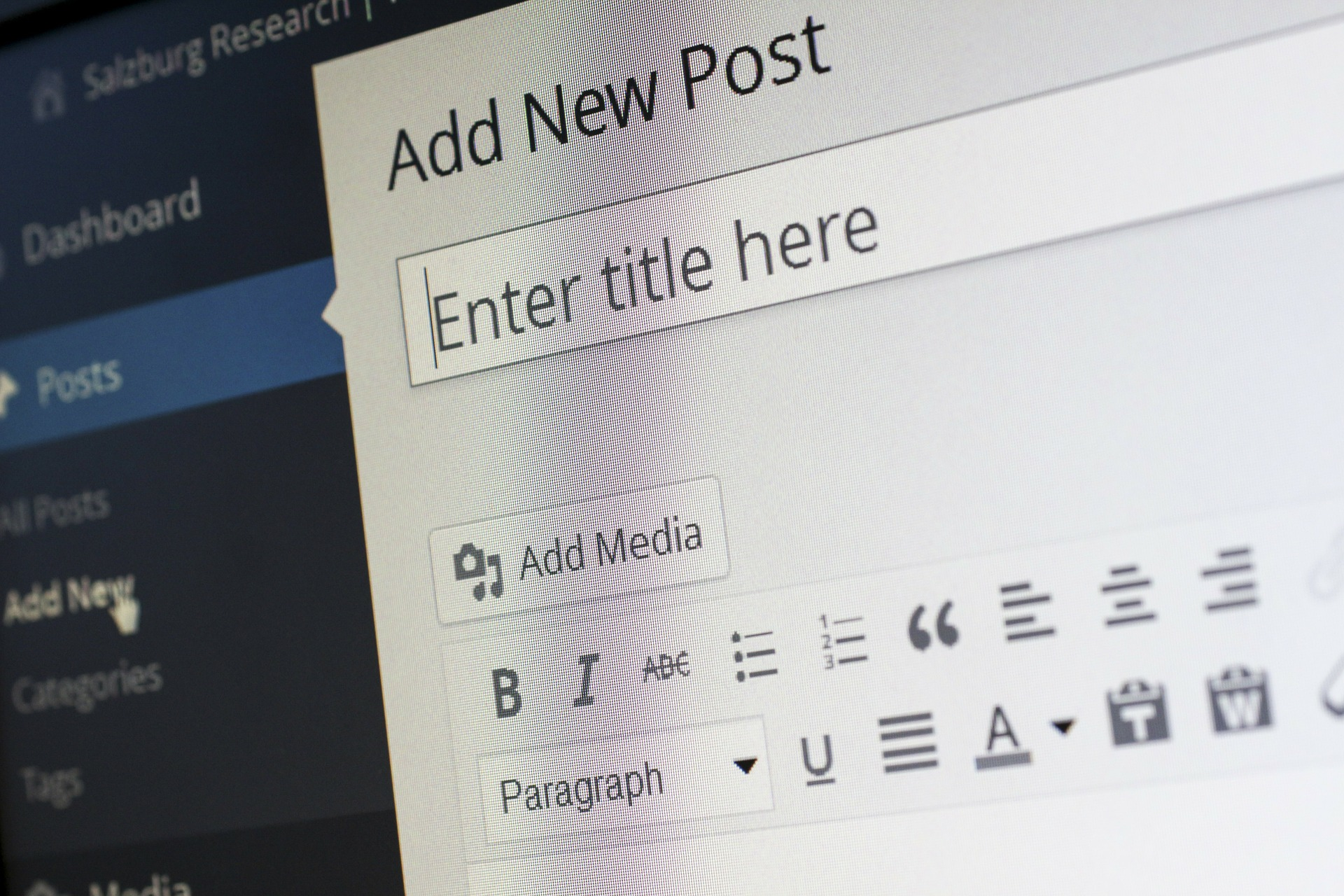 writing a wordpress blog post for a company blog
