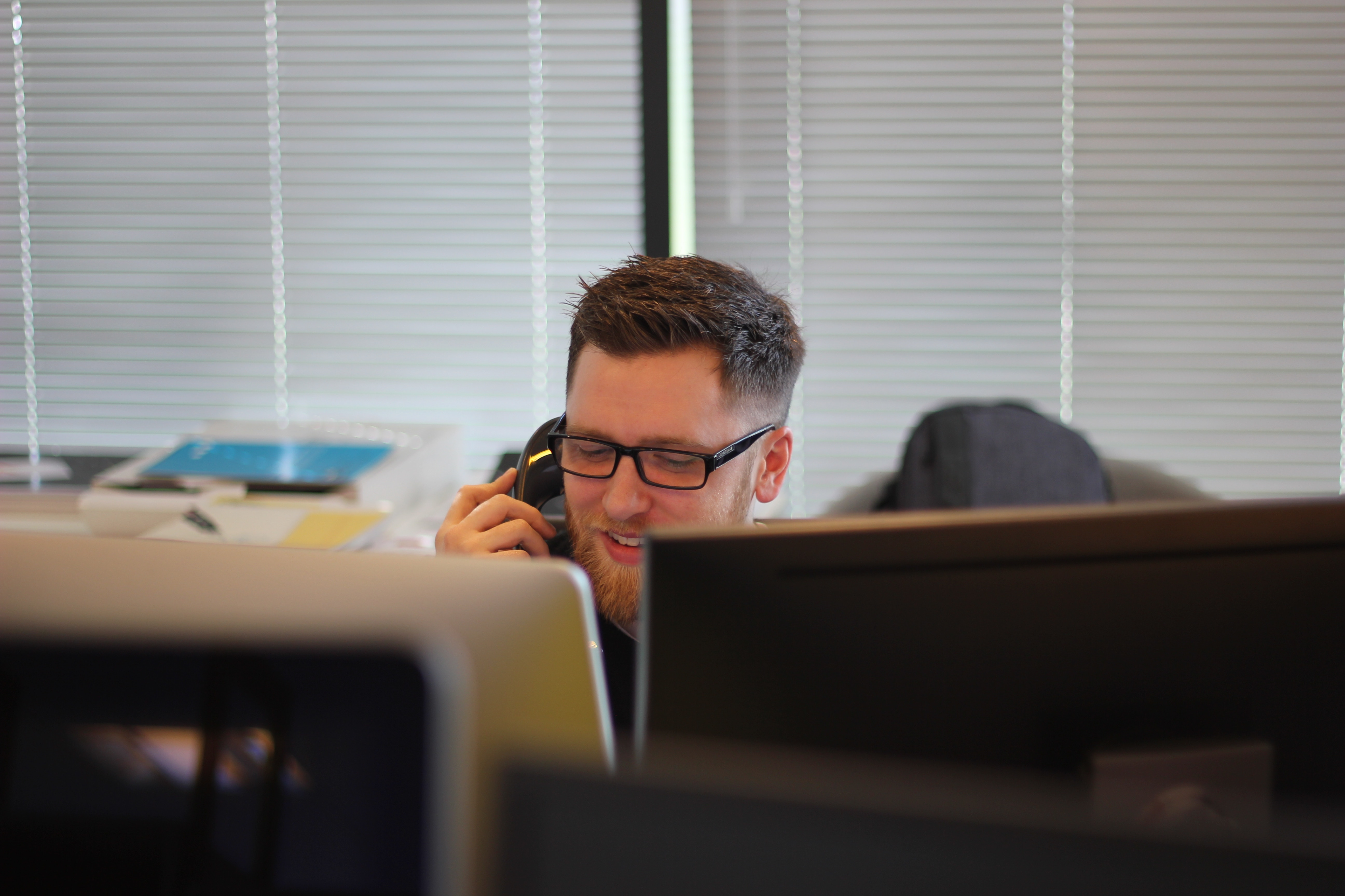 IT professional talking on the phone